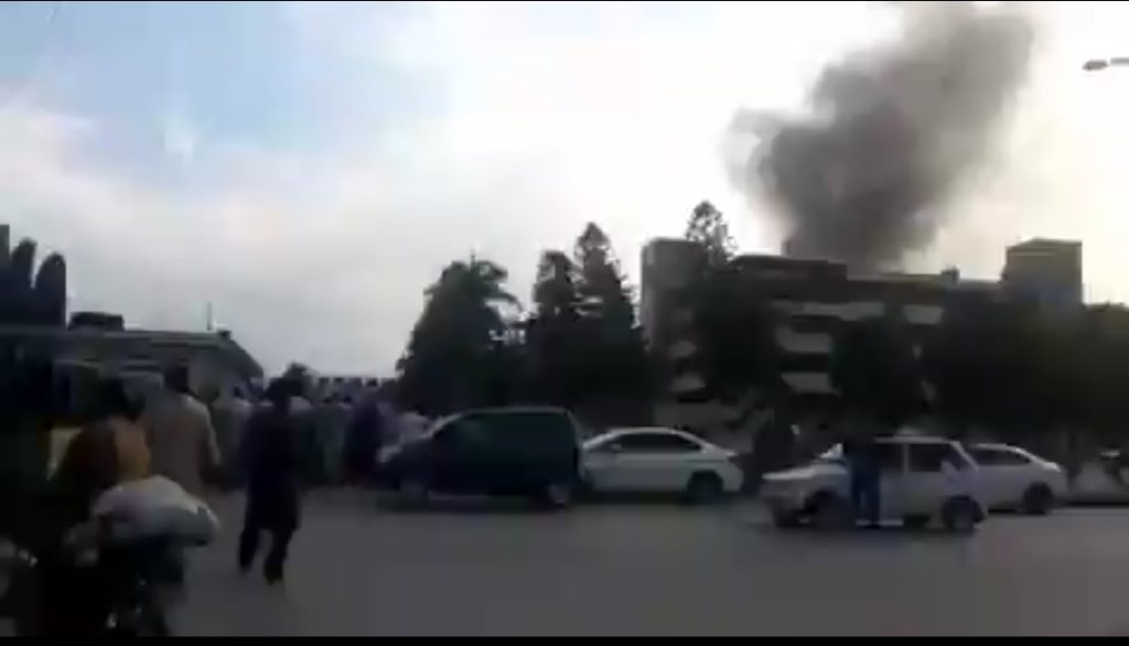 Massive smoke seen after Massive Explosion in Military Hospital