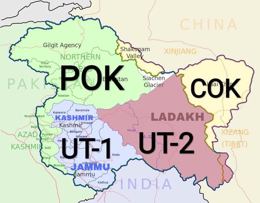 This is how the state of Jammu and Kashmir will look like after scrapping Article 370 Indian Constitution.