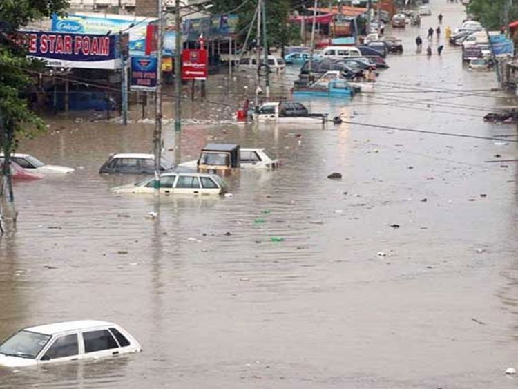 Water logging in Karachi