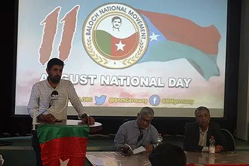Hammal Haider Baloch speaking at the Conference