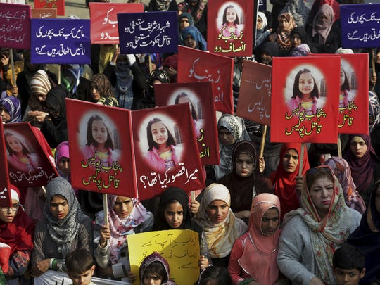 Rapistan Synonym to Pakistan: People protesting on the brutal rape and murder of 7-year-old Zainab