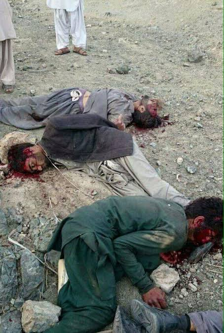 Image provided by Kahaan Baloch showing Barbarism of  Pakistani Army continues