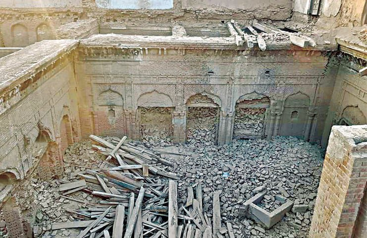 Systematic Destruction of Gurudwaras and Buildings of  Sikh Cultural heritage by Pakistan: Guru Nanak Palace