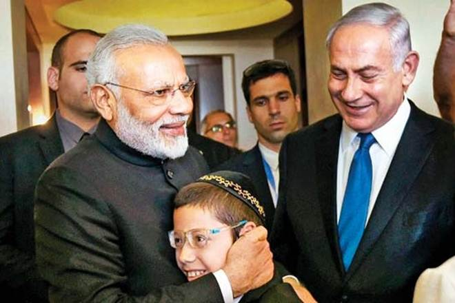 Baby Moshe has grown up to a young boy now met Indian Prime Minister Narendra Modi during Modi's visit to Israel.