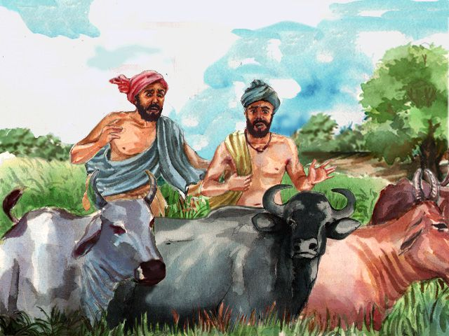 Cattle went astray in the fields when Guru Nanak as a young man was immersed in thoughts