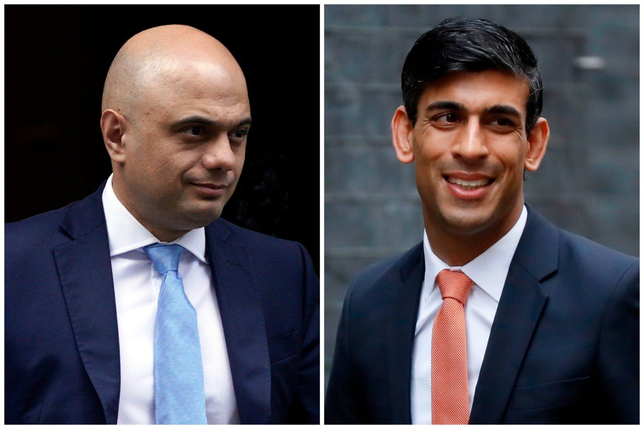 Pakistani Origin Sajid Javid and Indian Origin Rishi Sunak who replaced Sajid Javid