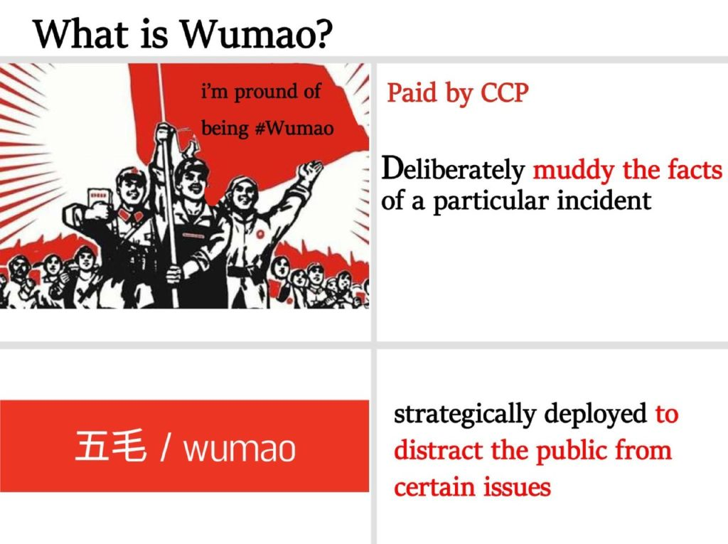 Who are Wu Mao or 50 Cents Chinese Troll Army?