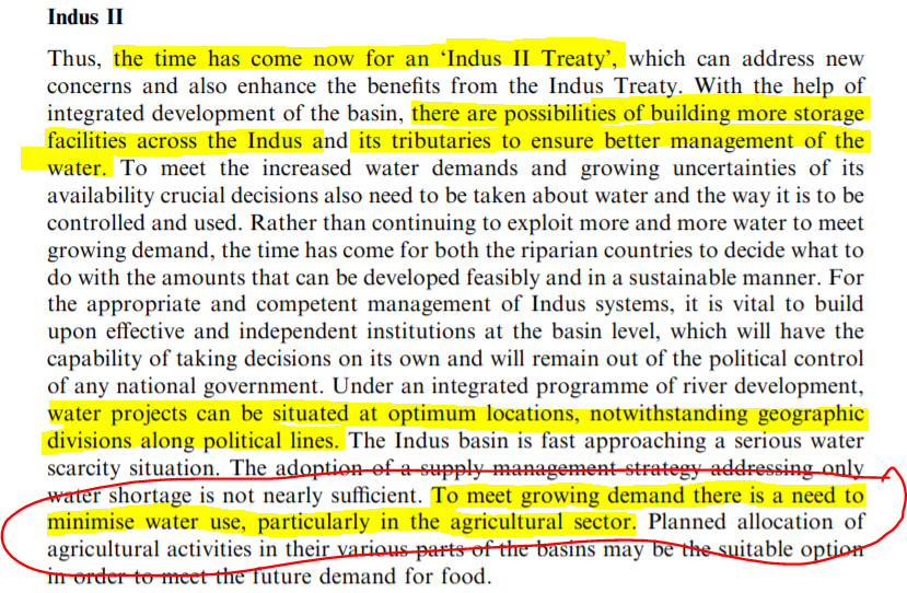 """Ashok's Proposal for a new Indus Treaty:  What Ashok is basically saying is """"Pakistan Must give up agriculture along its most fertile lands!"""""""
