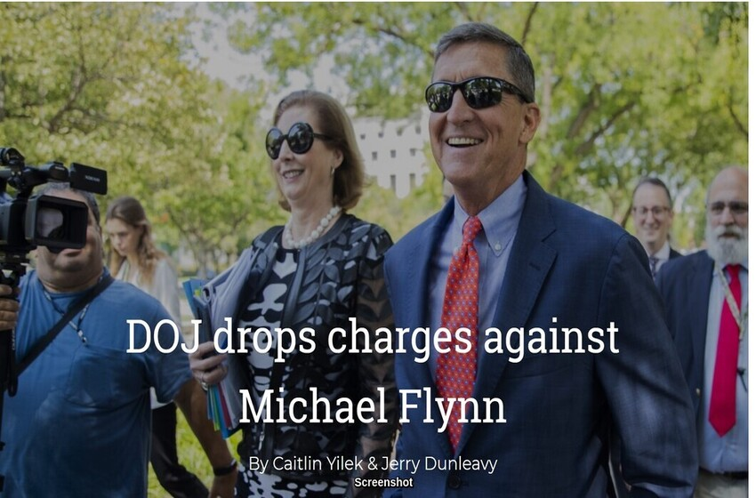 U.S. Department of Justice (DOJ) drops charges against Michael Flynn