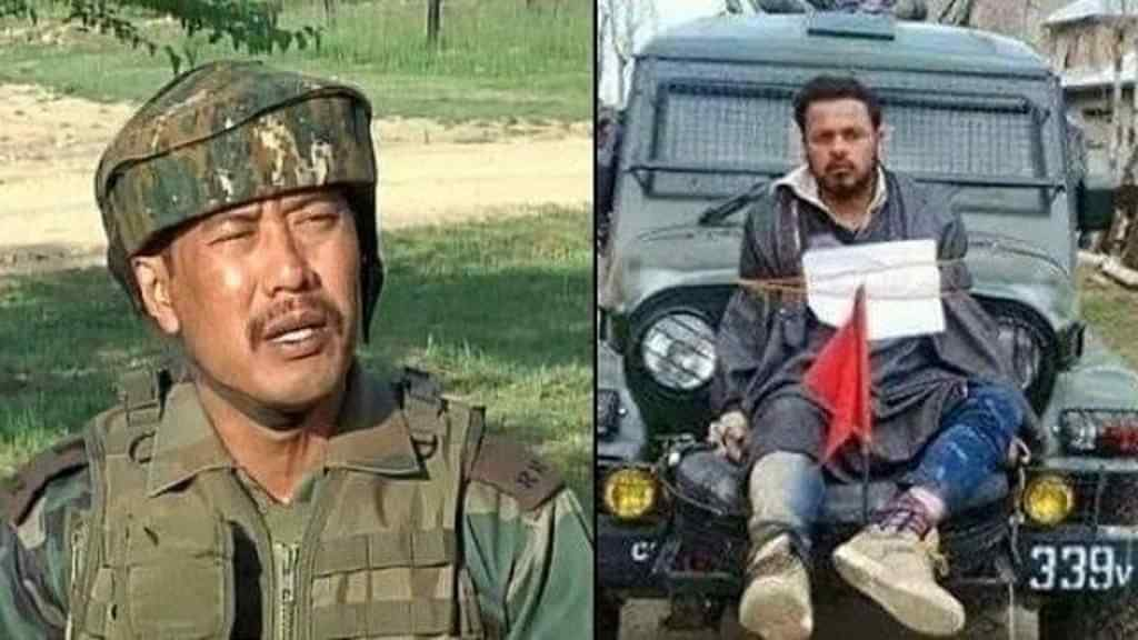 Major Gogoi saving the life of Army Officers in his unit from a crowd of Islamist Radical Jihadists who was ready to kill all the Army officers had Major not used one of the Jihadists in the crowd as a shield to save the lives of his men.