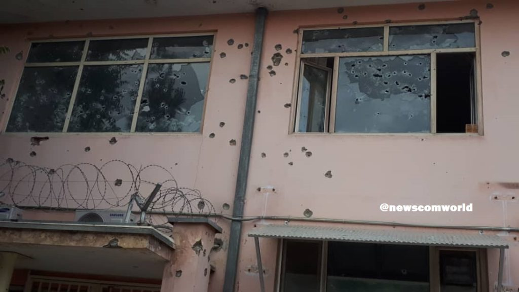 Attack on 100-bed maternity hospital in Kabul: Bullet marks on the Hospital wall