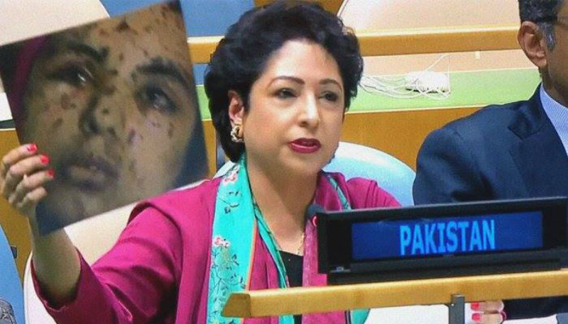 Maleeha Lodhi, Pakistan's Permanent Representative to UN who was sacked in September 2019 for her gaffe, had shown the same picture in the United Nations alleging it to be from Indian Union Territory of Jammu and Kashmir