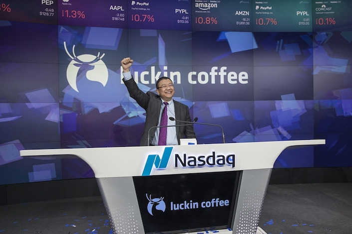 Rampant Corporate Frauds by US Listed Chinese Companies Exposed: Luckin Coffee listed at Nasdaq. Photographer: Victor J. Blue/Bloomberg