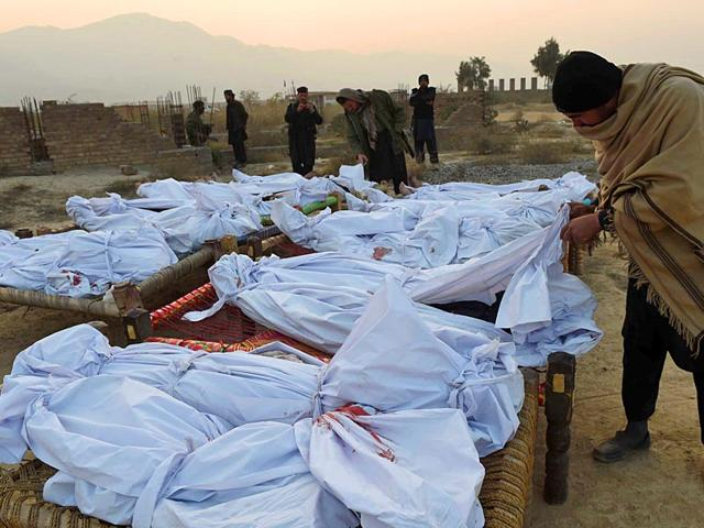 Dead Bodies are brought by Pakistan Army wrapped in White Cloth, with Organs missing, and buried in their presence. No one is allowed to see their bodies except the faces. (Representational Image)