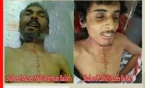 Abdul Rahman Arif and Zahid Pazeer both were abducted by Pakistan Army for Organ Harvesting. Their cleaved and stitched dead Bodies recovered