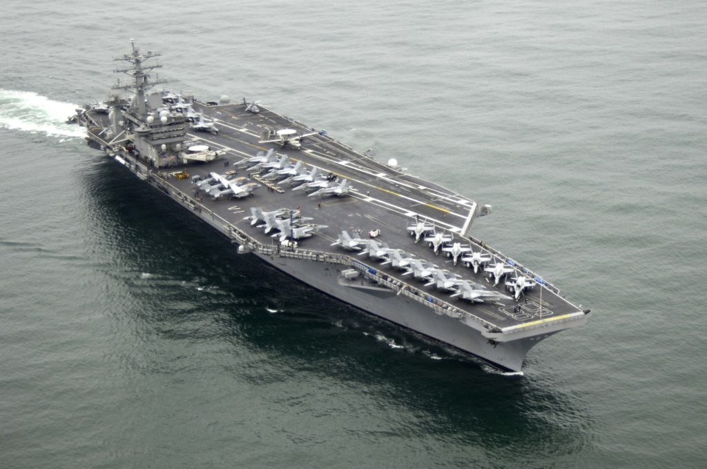 Horrible Surprise Coming : Experts Warn US-China Military Clash Within Six Months. China Cannot Be Allowed To Treat The SCS As Its Maritime Empire.  The aircraft carrier USS Nimitz in South China Sea