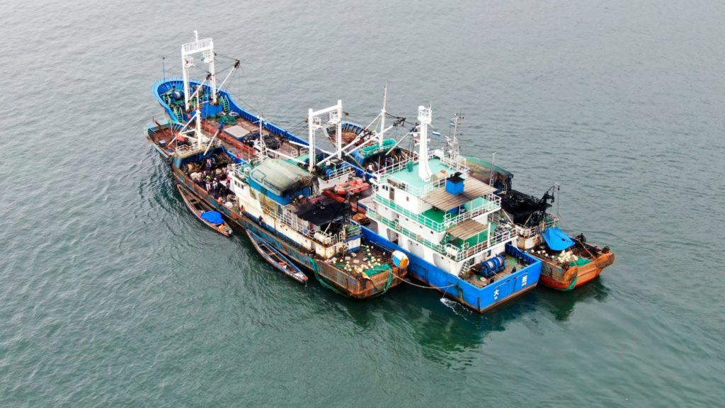 China Stealing Fish Stock Of The World: Flash point of Conflicts: Tran-shipping the fishes to bigger vessels.