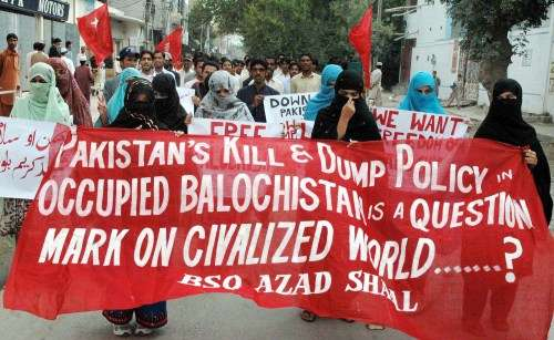 Civilians in Balochistan protesting against Punjabi Pakistan Kill and Dump policy