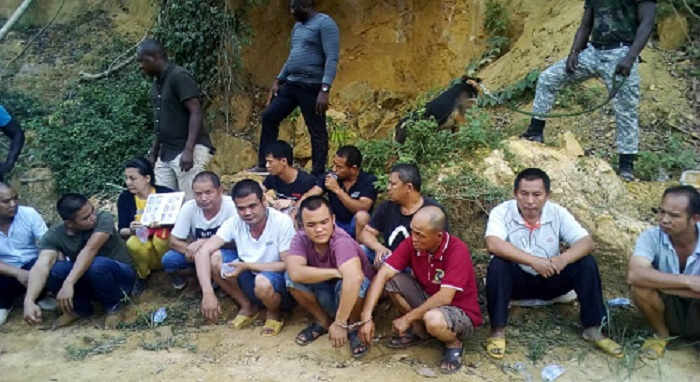 Chinese Debt Trap Diplomacy - The Case of Ghana's Galamsey - Chinese illegal gold diggers arrested by Ghana Police