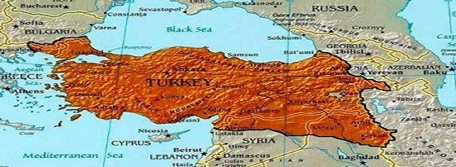 Map of Ottoman Empire – Belligerent Imperialist Turkey dreams to rebuild
