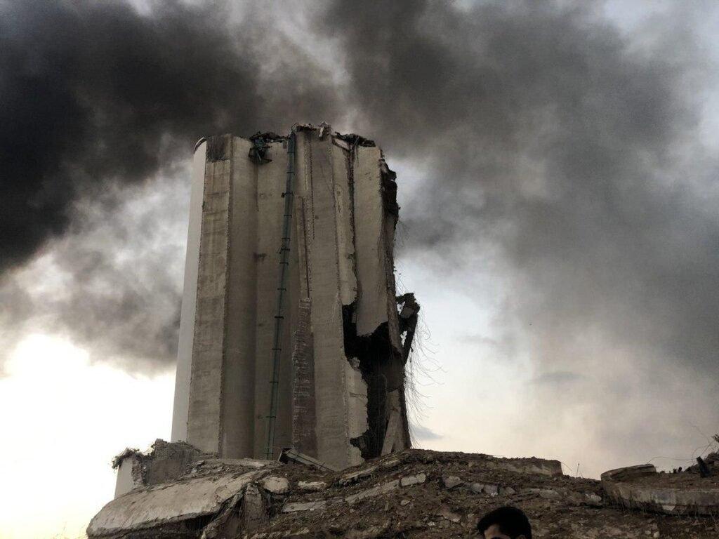 Destruction after Blast in Beirut, Lebanon