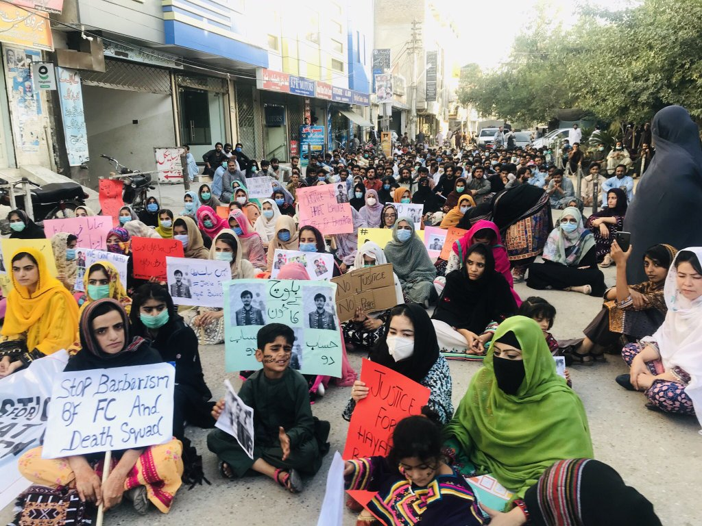 Protests in Quetta after cold blooded murder of Hayat Baloch by Pakistan Army