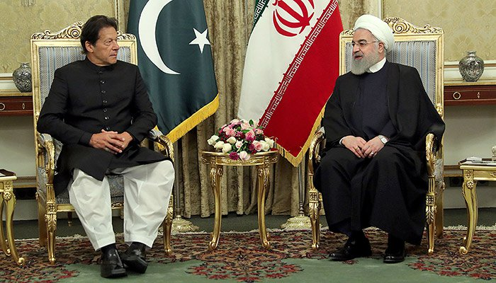 Picture of Imran Khan meeting Iranian President Hassan Rouhani during this recent visit to Iran