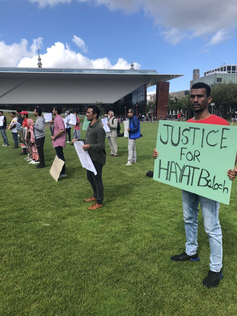 Anger in Pakistan Occupied Balochistan after cold blooded Extra Judicial Killing of Hayat Baloch : Protests in Netherlands