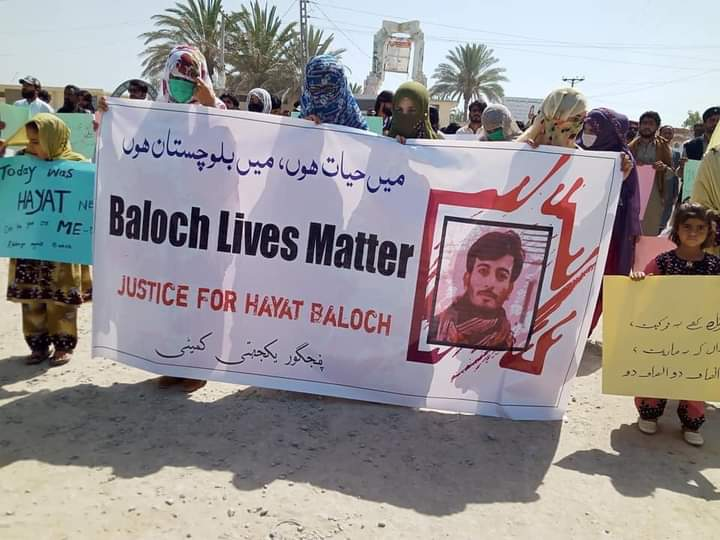 Anger in Pakistan Occupied Balochistan after cold blooded Extra Judicial Killing of Hayat Baloch : Protests in Panjgur