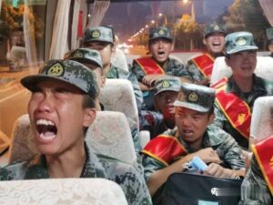 Chinese PLA Soldiers Cry As They are Sent to Indo-China LAC To Face Indian Army