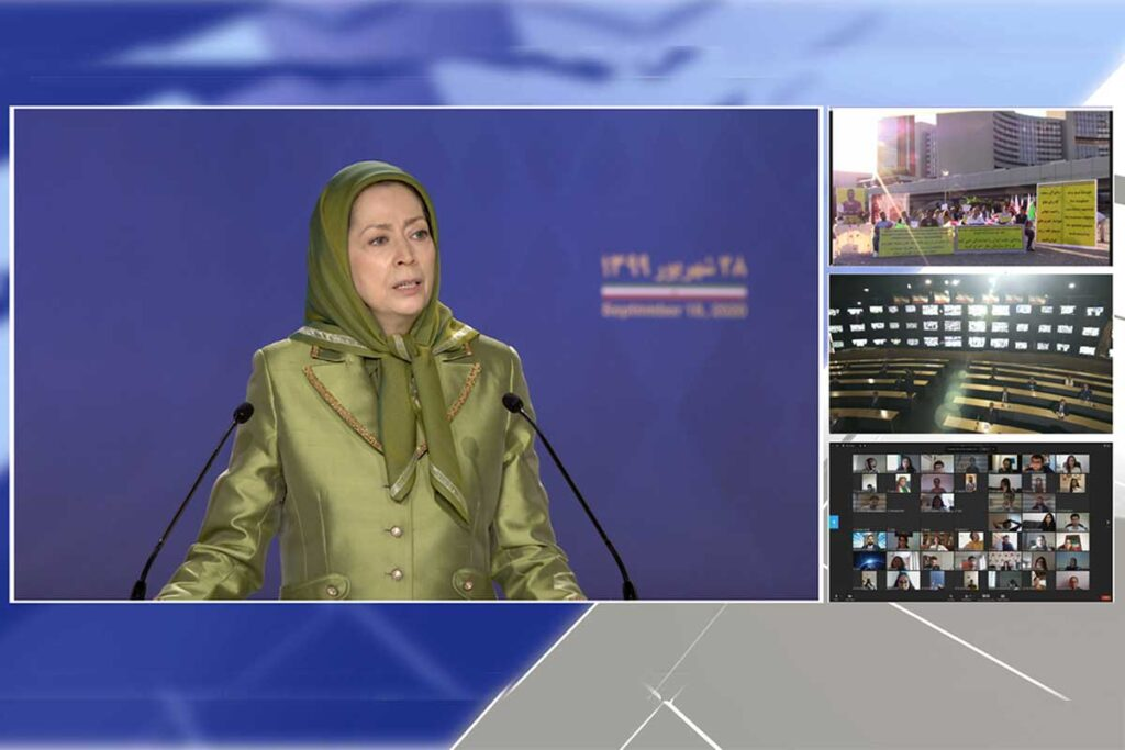 Maryam Rajavi Called for Comprehensive Embargo Against Religious Dictatorship in Iran. Accused Iran of Exporting Terrorism and Terror Financing in Other countries.