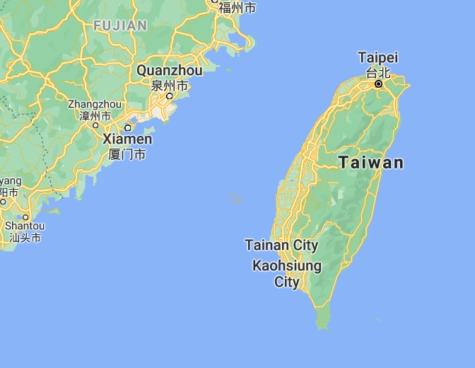 Advance by Inches - A Case Study of Chinese Aggression against India and Taiwan. Map of Taiwan