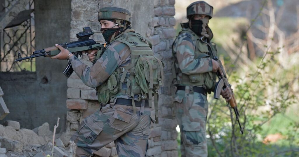 Indian Security Forces looking for Pakistan Sponsored Terrorists somewhere in Indian Kashmir