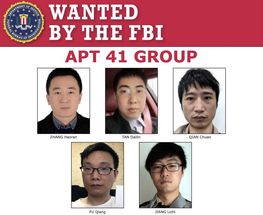 US Federal Court Indicted 5 Chinese Hackers of APT 41 and BARIUM Group Working for Chinese Ministry of State Security
