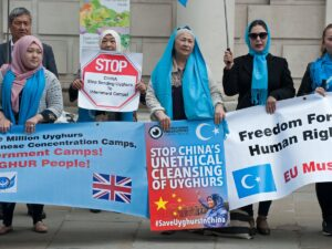 The Chinese Communist Party's Human Rights Abuses in Xinjiang : Protests against unethical cleansing of Uyghurs