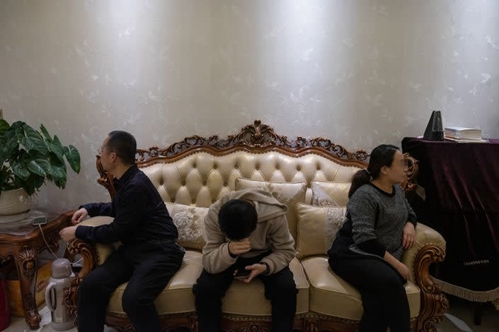 China using Bio-Warfare as a Means to Reduce Population Explosion : The home of Zhao Renjun, right, home overlooked the pharmaceutical plant where the bacteria came from. Now he and two family members are infected. They later moved away.