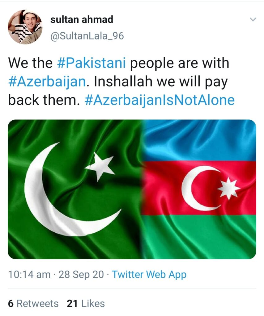 Turkey And Pakistan Sending Terrorists to Azerbaijan to Fight Armenia : Pakistani Social Media handles supporting Azerbaijan