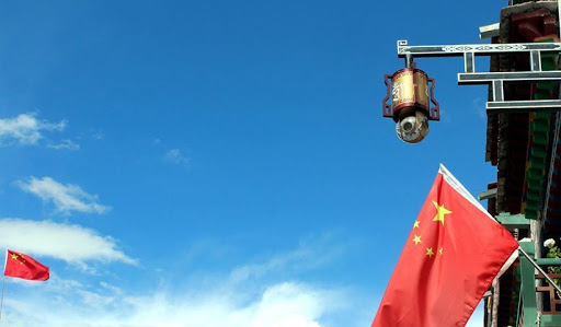 Such cameras are installed in every street and corner in China Occupied Tibet to monitor every move of the locals.