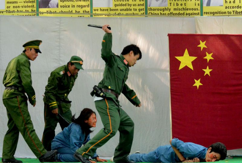 Oppression of Tibetans by Chinese CCP