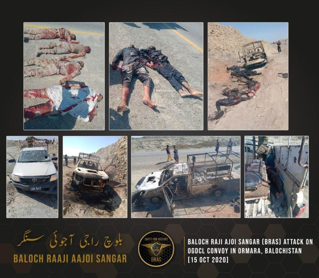 Baloch And Sindhi Special Forces Increase Cost of Occupation For Pakistan Army : Images released by BRAS after the attack