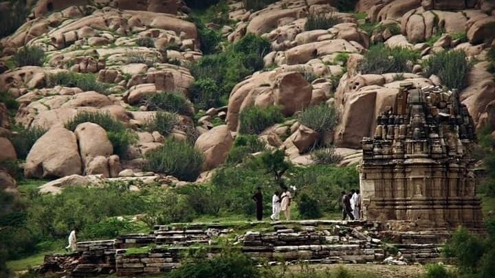 Bhodesar Temple in Nagarparkar, Sindh in dilapidated state