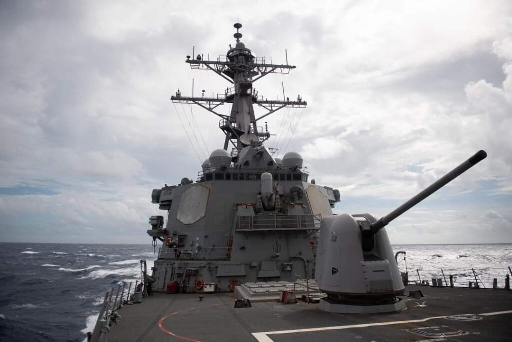 Communist China threatens Democratic Taiwan with Invasion : Will US Protection be sufficient? USS Barry (DDG-52) transits the Taiwan Strait on Oct. 14, 2020