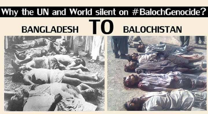 Genocide and Ethnic Cleansing by Punjabi Pakistan. From Bangladesh to Balochistan, it is the same story.