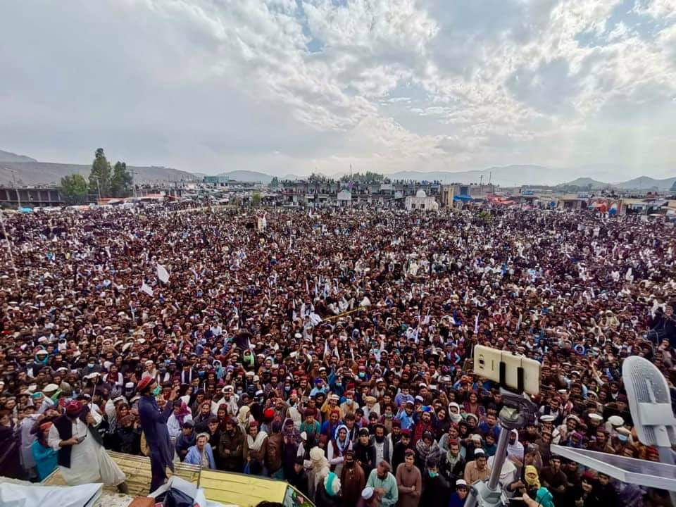 "The Pashtun Tahaffuz Movement (PTM) held a ""massive gathering"" in Miranshah, North Waziristan demanding an end to ""extrajudicial killings, enforced disappearances and unlawful detentions."""