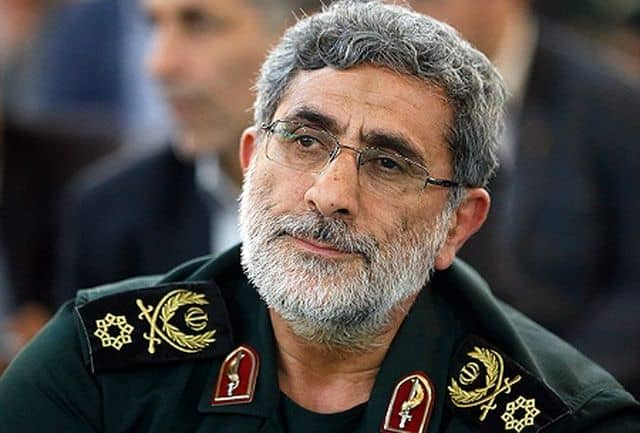 Esmail Ghaani, the comander of the IRGC's Quds Force