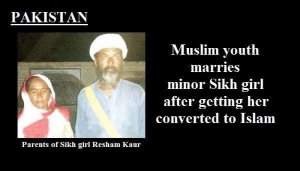 Pakistan Forcibly Abducts And Converts Minor Sikh Girls to Islam Is Inciting Indian Sikhs