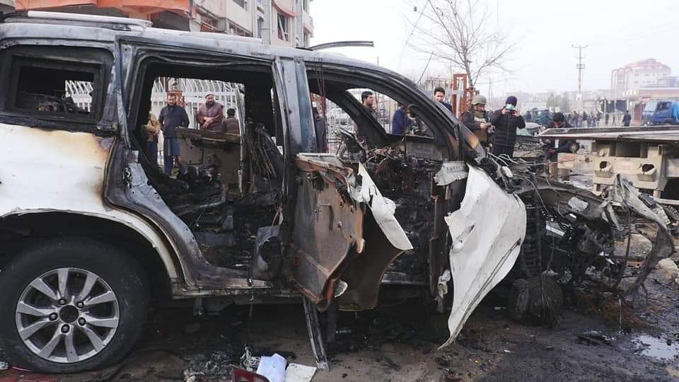 Pakistan Supported Taliban Terrorists Killed 8 and Injured 15 Civilians in Car Bomb Blast In Kabul. Yesterday 15 Children were Killed by Terrorists.