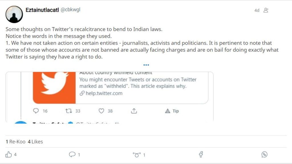 An Open Letter by an Indian over Twitter's Tussle with Indian Government