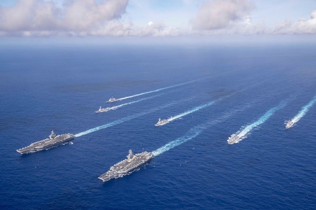 "South China Sea : US, Britain, France, Germany, Holland And Canada Are Sending Warships To The South China Sea In Growing ""Pushback"" Against Beijing."