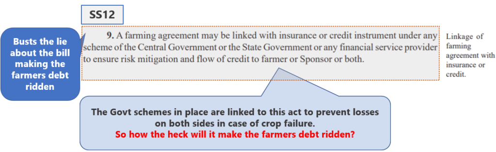 Farmers Bill Demystified Part 2 : SS12 - Section 9 of the Act